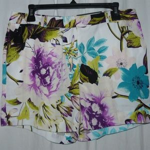 WORTHINGTON Modern Fit Chiffon FLORAL Print Shorts